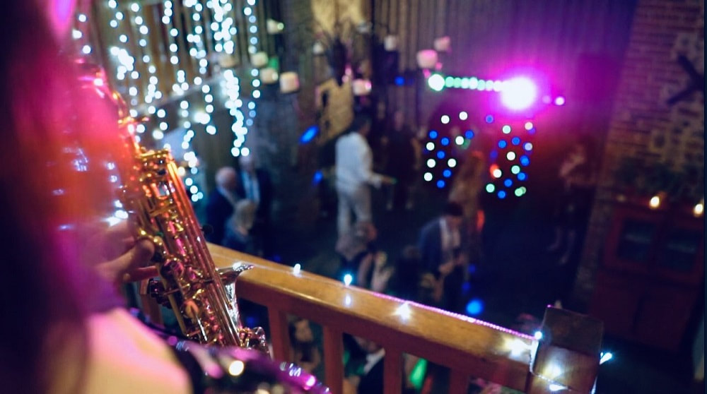 saxophonist playing at a wedding_essex saxophonist for hire